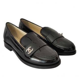Chanel Black Patent Leather Pumps
