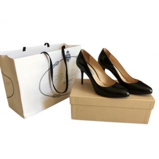 Prada Black Patent Classic Stiletto Court Pumps