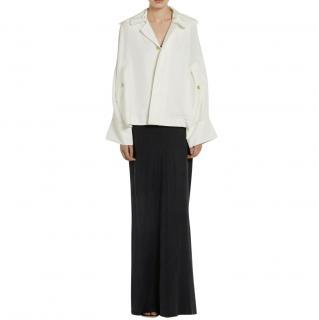 Joseph white semi sheer silk jacket