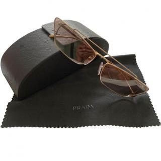 Prada Gold Ultravox Sunglasses - New Season