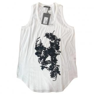 Alexander McQueen Lace Embroidered Skull Top
