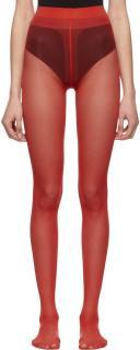 Gucci Red Stretch Nylon Tights