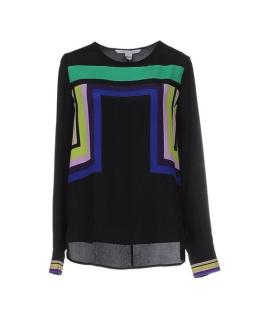 Diane Von Furstenberg Silk Graphic Print Top