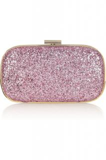 Anya Hindmarch Pink Glitter Clutch