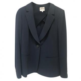 Armani Collezioni Navy Wool Tailored Blazer