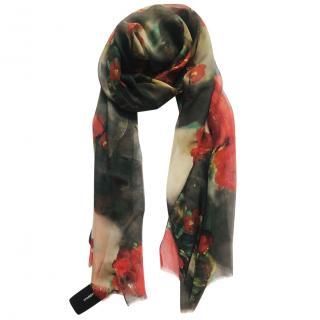 Dolce & Gabbana rose print scarf/sarong/shawl
