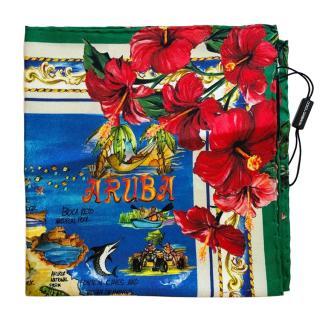 Dolce & Gabbana Caribbean Collection Silk Scarf
