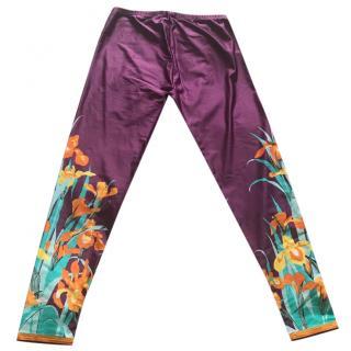 Louis Vuitton floral-print leggings
