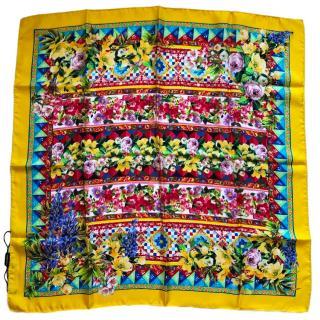 Dolce & Gabbana Sicily Majolica silk scarf