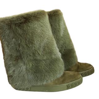 Casadei fur-panel boots