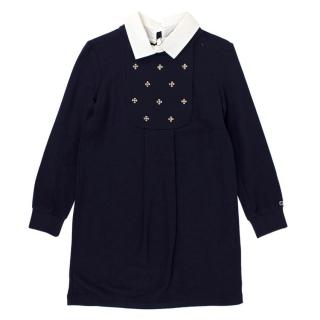 Gucci Girls' Navy Embellished Dress