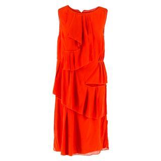 Thakoon Red Ruffle Dress