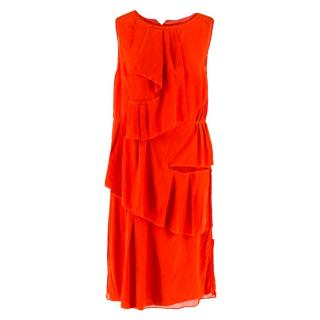 Thakoon Red Ruffle Dress