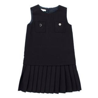 Gucci Girls 4-years Navy Blue Pleated Dress