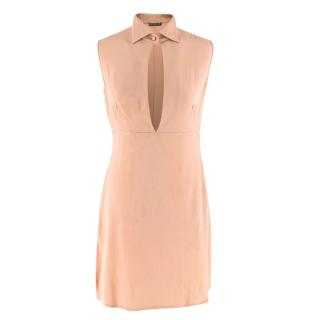 Alexander McQueen Nude Silk Mini Dress