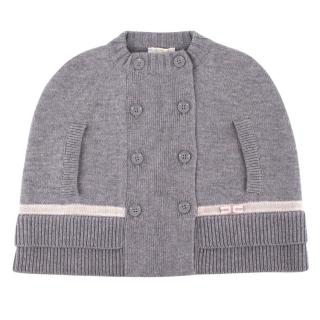 Gucci Newborn Girls' Grey Wool Cape