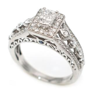 Bespoke Palladium Set 0.41ct Diamond Cluster Ring