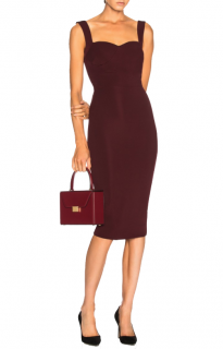 Victoria Beckham Dense Rib Cami Fitted Dress
