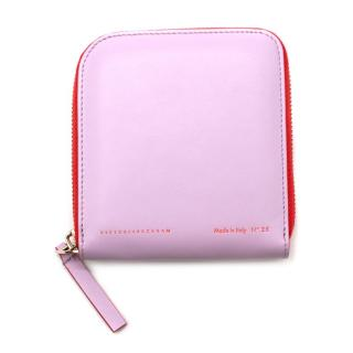 Victoria Beckham Lilac Leather Zip Around Wallet