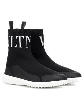 Valentino Black VLTN Sock Trainers - New Season