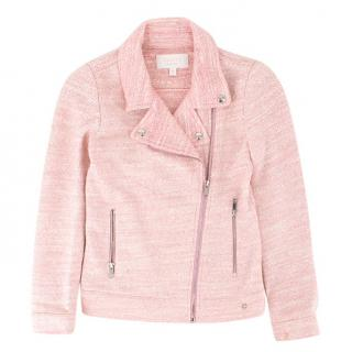 Gucci Girl's Pink Cotton-blend Knit Jacket