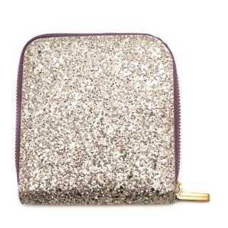 Victoria Beckham Glittered Zip Around Wallet