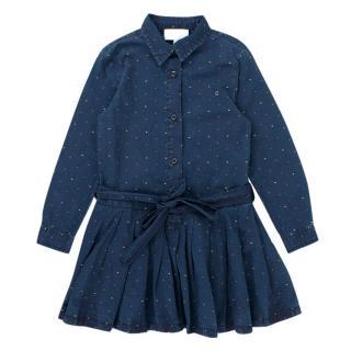 Gucci Girls' Blue Dotted Jacquard Dress