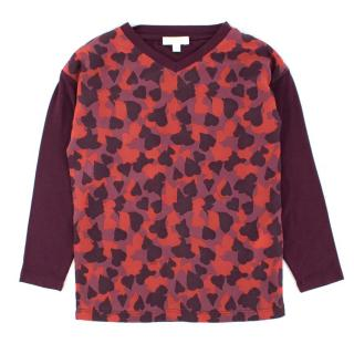 Gucci Girls' Burgundy Printed Top