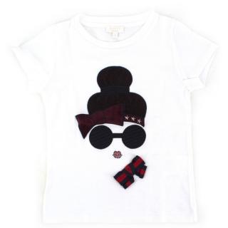 Gucci Girls' White Cotton T-shirt