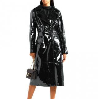 Burberry Black Patent Trench Coat