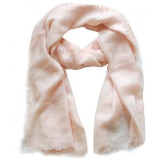 Max Mara Cashmere & Silk Pink Scarf