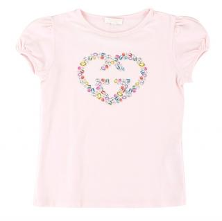 Gucci Girls 4-years Pink Rhinestone Print T-shirt