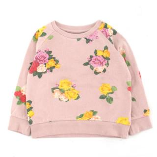 Stella McCartney Girls' Pink Floral-print Cotton Jumper