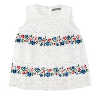 Ermanno Scervino Junior 6-years Lace and Floral Top