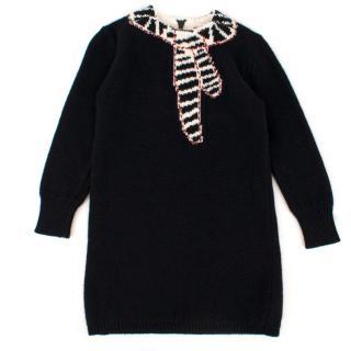 Bonpoint Girls 3-years Black Knit Dress
