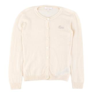 Gucci Girls' Cream Wool & Cashmere-blend Cardigan