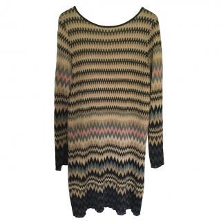 Missoni scoop-back zig-zag knit dress