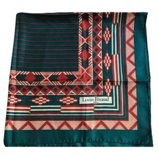 Louis Feraud geometric-print vintage silk scarf