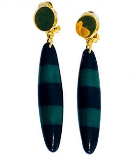 Marni oval-drop clip-on earrings