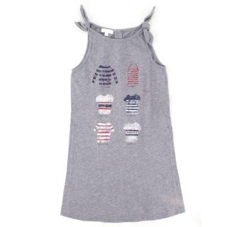 Gucci Girls 3-years Grey Print Jersey Dress