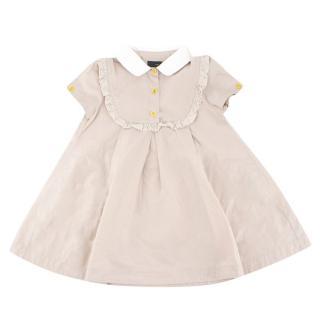 Fendi Girls' Beige Short-sleeved Dress