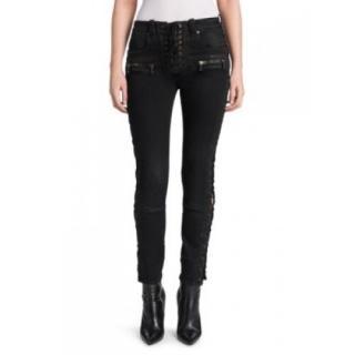 Ben Taverniti Unravel Project lace-up black jeans