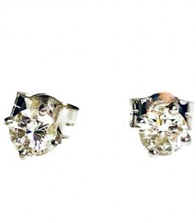 Bespoke Platinum Set 0.40ct Diamond Solitaire Earrings