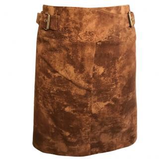 Celine tan-brown cotton skirt