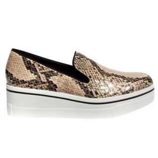 Stella McCartney Faux Python Slip-on Platforms