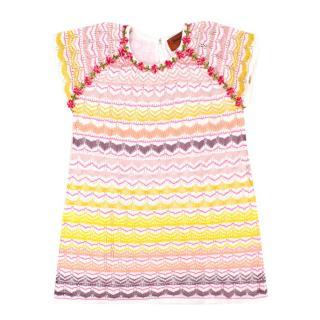 Missoni Girls 2-years Multi Colour Chevron Patterned Dress