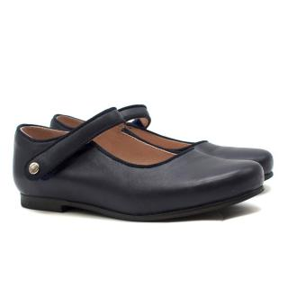 Jacadi Girls' Navy Leather Ballet Flats