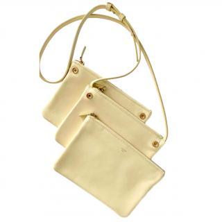 Celine Lemon Yellow Trio Bag