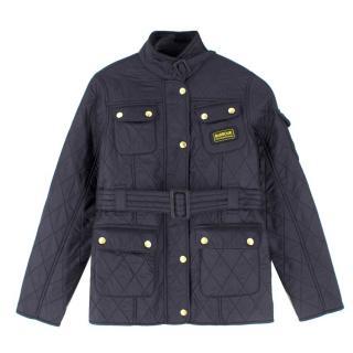 Barbour International Boys Black Quilted Jacket
