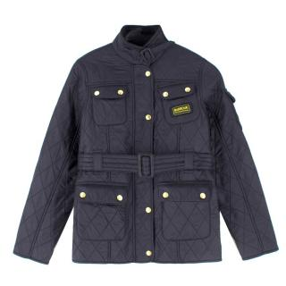Barbour International Boys Black Quilted Jacket